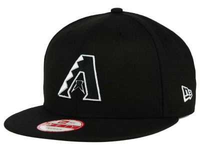 Arizona Diamondbacks MLB Black White 9FIFTY Snapback Cap Hats