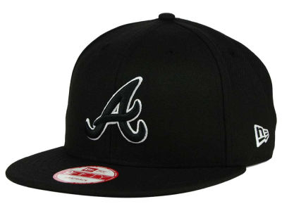 Atlanta Braves MLB Black White 9FIFTY Snapback Cap Hats