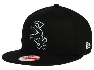 Chicago White Sox MLB Black White 9FIFTY Snapback Cap Hats