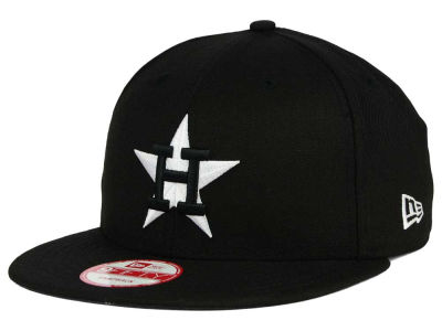 Houston Astros MLB Black White 9FIFTY Snapback Cap Hats