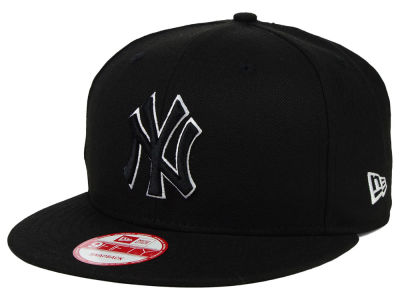 New York Yankees MLB Black White 9FIFTY Snapback Cap Hats