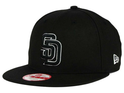 San Diego Padres MLB Black White 9FIFTY Snapback Cap Hats