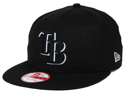 Tampa Bay Rays MLB Black White 9FIFTY Snapback Cap Hats