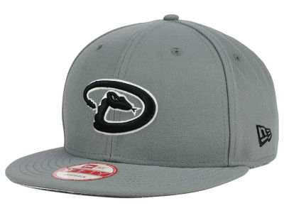 Arizona Diamondbacks MLB Gray Black White 9FIFTY Snapback Cap Hats