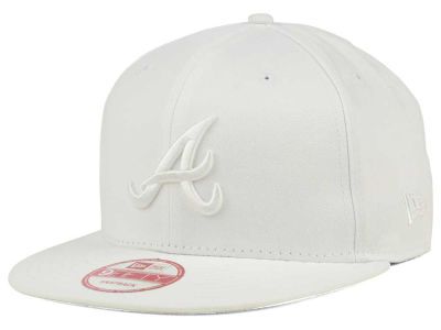 Atlanta Braves MLB White on White 9FIFTY Snapback Cap Hats