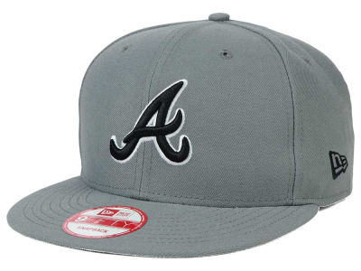 Atlanta Braves MLB Gray Black White 9FIFTY Snapback Cap Hats