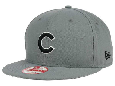 Chicago Cubs MLB Gray Black White 9FIFTY Snapback Cap Hats