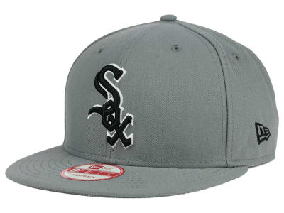 Chicago White Sox MLB Gray Black White 9FIFTY Snapback Cap Hats