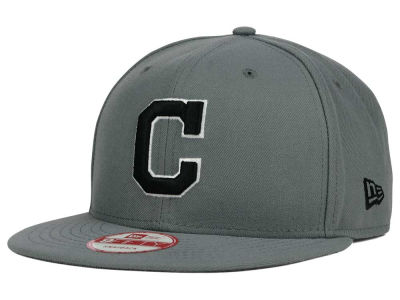 Cleveland Indians MLB Gray Black White 9FIFTY Snapback Cap Hats