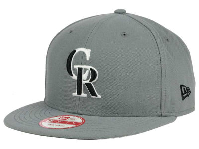 Colorado Rockies MLB Gray Black White 9FIFTY Snapback Cap Hats