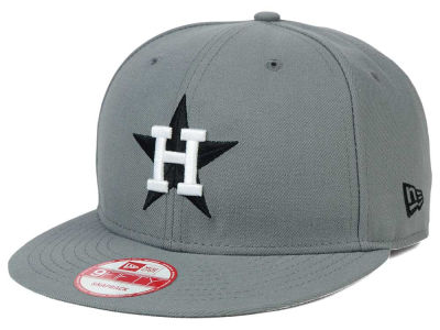 Houston Astros MLB Gray Black White 9FIFTY Snapback Cap Hats
