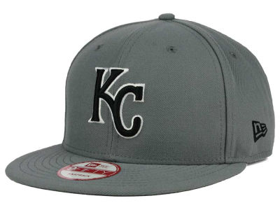 Kansas City Royals MLB Gray Black White 9FIFTY Snapback Cap Hats