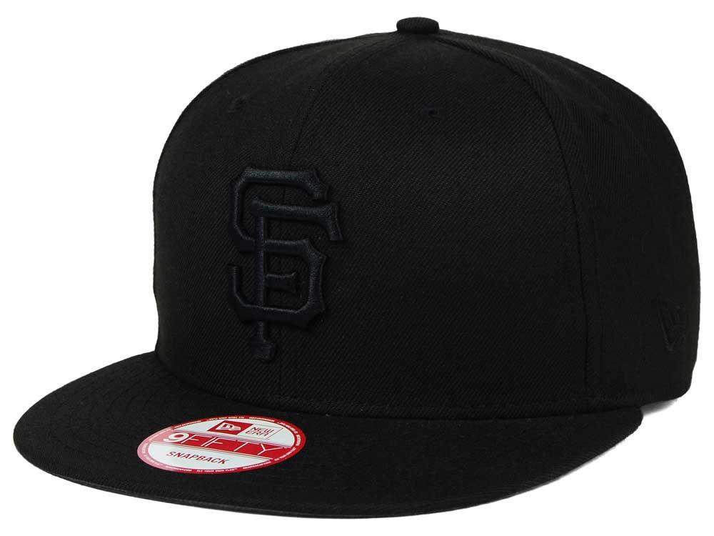 quality design b697d 7187d high-quality San Francisco Giants New Era MLB Black on Black 9FIFTY Snapback  Cap