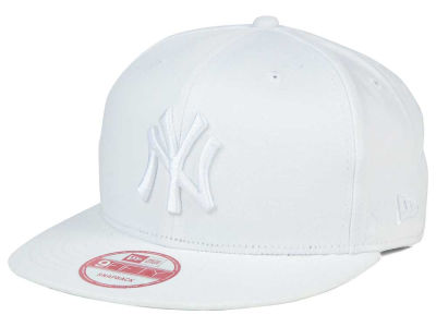 New York Yankees MLB White on White 9FIFTY Snapback Cap Hats