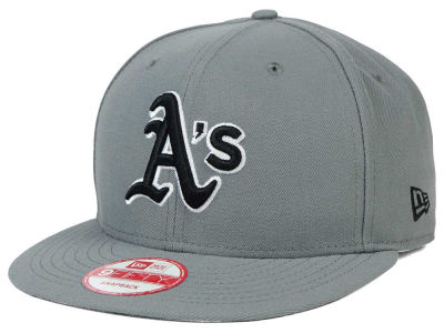 Oakland Athletics MLB Gray Black White 9FIFTY Snapback Cap Hats
