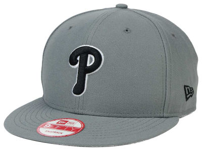 Philadelphia Phillies MLB Gray Black White 9FIFTY Snapback Cap Hats
