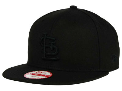 St. Louis Cardinals MLB Black on Black 9FIFTY Snapback Cap Hats