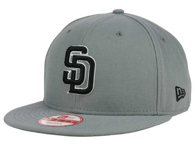 San Diego Padres MLB Gray Black White 9FIFTY Snapback Cap Hats
