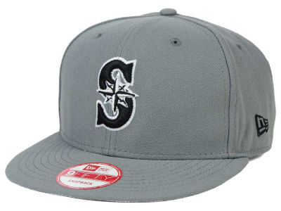 Seattle Mariners MLB Gray Black White 9FIFTY Snapback Cap Hats