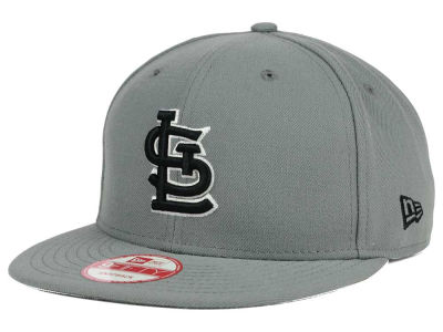 St. Louis Cardinals MLB Gray Black White 9FIFTY Snapback Cap Hats