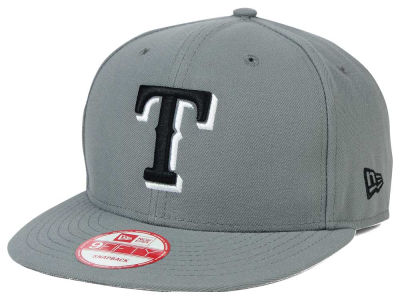 Texas Rangers MLB Gray Black White 9FIFTY Snapback Cap Hats