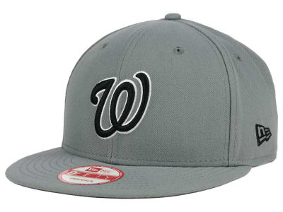 Washington Nationals MLB Gray Black White 9FIFTY Snapback Cap Hats