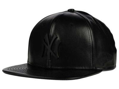 Lids Custom Hats >> New York Yankees New Era MLB Leather Metal 9FIFTY ...
