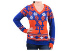 New York Mets Forever Collectibles MLB Women's Big Logo V-Neck Sweater Sweatshirts
