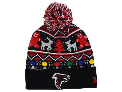 Atlanta Falcons NFL Ugly Sweater Pom Knit Hats