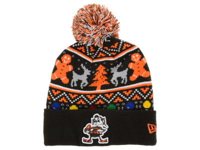 Cleveland Browns NFL Ugly Sweater Pom Knit Hats