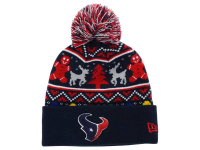 Houston Texans NFL Ugly Sweater Pom Knit Hats