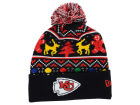 Kansas City Chiefs New Era NFL Ugly Sweater Pom Knit Hats