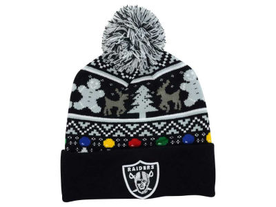 Oakland Raiders NFL Ugly Sweater Pom Knit Hats