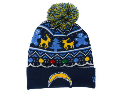 Los Angeles Chargers NFL Ugly Sweater Pom Knit Hats