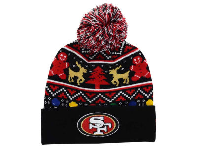 San Francisco 49ers NFL Ugly Sweater Pom Knit Hats