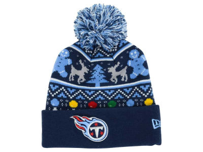 Tennessee Titans NFL Ugly Sweater Pom Knit Hats