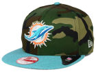 Miami Dolphins New Era NFL Camo Heather 9FIFTY Snapback Cap Adjustable Hats