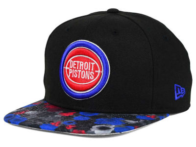 Detroit Pistons NBA HWC Floral Shadow 9FIFTY Snapback Cap Hats