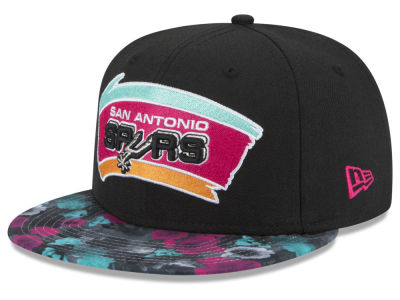 San Antonio Spurs NBA HWC Floral Shadow 9FIFTY Snapback Cap Hats