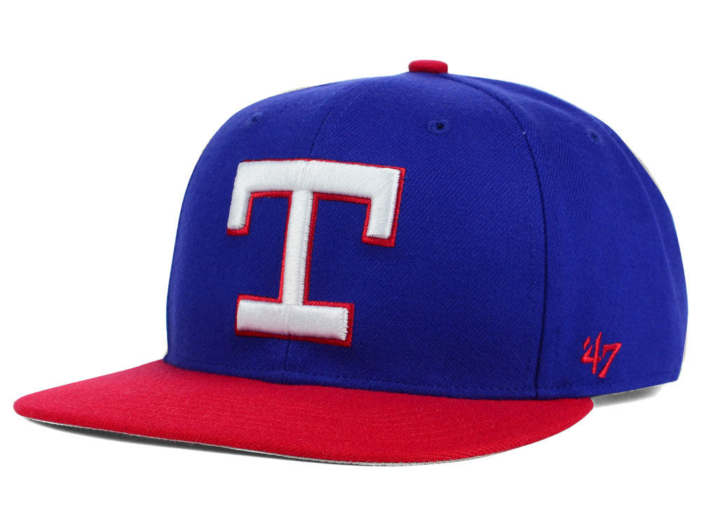 check out 8ff8a 05207 durable service Texas Rangers  47 MLB Sure Shot  47 Snapback Cap