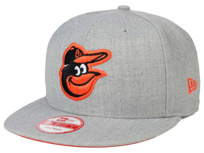 Baltimore Orioles MLB Heather Team Color 9FIFTY Snapback Cap Hats