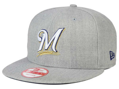 Milwaukee Brewers MLB Heather Team Color 9FIFTY Snapback Cap Hats