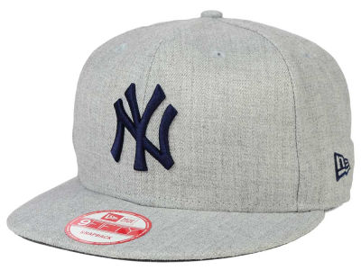 New York Yankees MLB Heather Team Color 9FIFTY Snapback Cap Hats