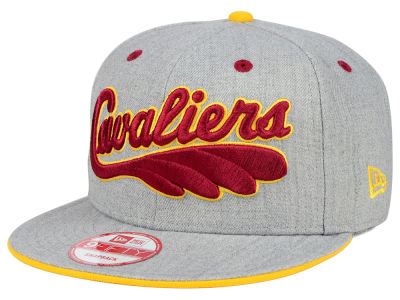 Cleveland Cavaliers NBA HWC Heather Team Color 9FIFTY Snapback Cap Hats