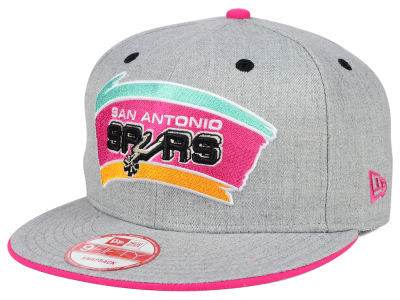 San Antonio Spurs NBA HWC Heather Team Color 9FIFTY Snapback Cap Hats