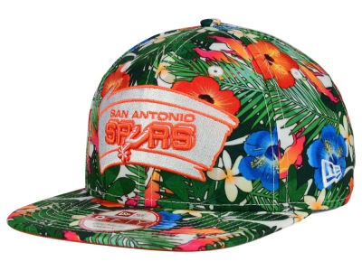 San Antonio Spurs NBA HWC Light Floral 9FIFTY Snapback Cap Hats