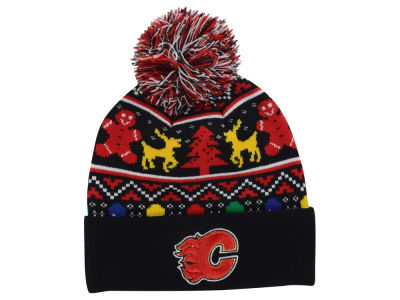 Calgary Flames NHL Ugly Sweater Knit Hats