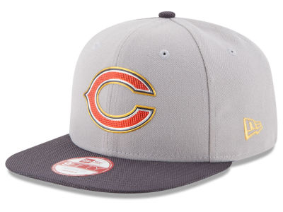 Chicago Bears NFL Gold Collection Gray 9FIFTY Original Fit Snapback Cap Hats
