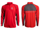 Ohio State Buckeyes J America NCAA Men's Colorblock Reflective 1/4 Zip Jacket Jackets