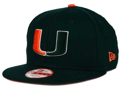 Miami Hurricanes NCAA Core 9FIFTY Snapback Cap Hats